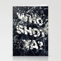 Who Shot Ya? Stationery Cards