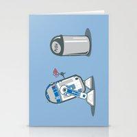Robot Crush Stationery Cards