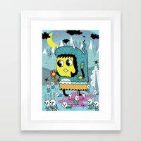 The Birds And The Bunnie… Framed Art Print