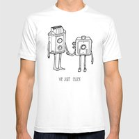 Clicked Mens Fitted Tee White SMALL