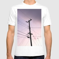 Lines Of Communication SMALL White Mens Fitted Tee