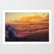 Sundown At The Sea Art Print