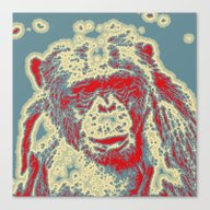 Abstract Animal - Chimpa… Canvas Print