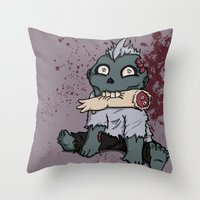 Zom-Boy  Throw Pillow