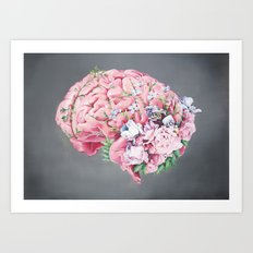 Floral Anatomy Brain Art Print