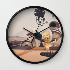 Fear and Loathing on Tatooine Wall Clock