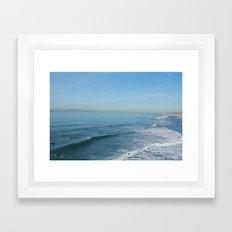 Waves on Sunday Framed Art Print