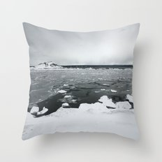 Ice on Lake Superior Throw Pillow