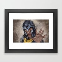 Magneto. Framed Art Print