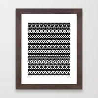 Fair Isle Black & White Framed Art Print