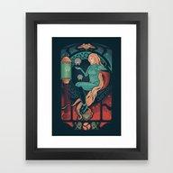 Framed Art Print featuring Aran Nouveau by Victor Vercesi