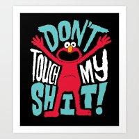 Crazy Elmo Art Print