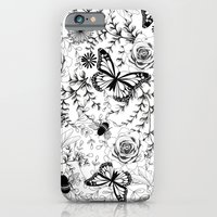 iPhone & iPod Case featuring Butterflies And Bees by Amanda Dilworth