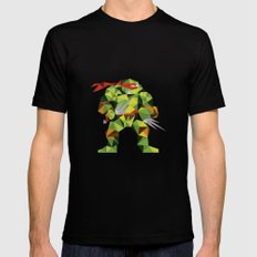 Twin Sai Turtle Mens Fitted Tee Black SMALL