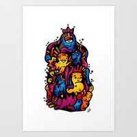 Monsterdelia Art Print