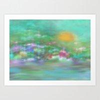 Landscape In Pastel Colo… Art Print