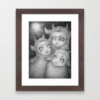 ...and She Had A Vision Framed Art Print