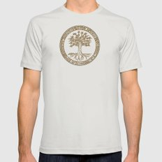 Tree Pattern Mens Fitted Tee Silver SMALL