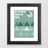 La Voyage Dans La Lune Framed Art Print