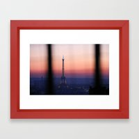 Eiffel Tour. Paris. Love. Framed Art Print