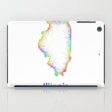 Rainbow Illinois map iPad Case