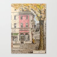 Autumn in Freiburg Canvas Print
