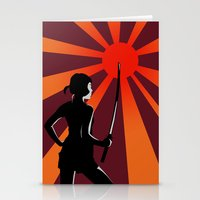 Warrior at Sunset Stationery Cards