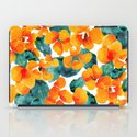 orange floral iPad Case