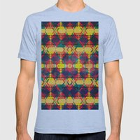 Green Abstract Diamond Mens Fitted Tee Athletic Blue SMALL