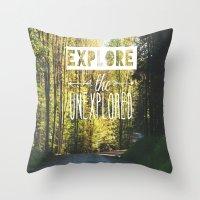 Explore the Unexplored Throw Pillow