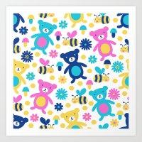 Bee And Bear Children's … Art Print