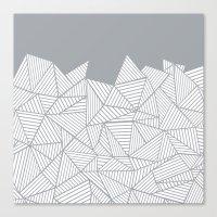 Abstract Mountain Grey Canvas Print