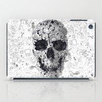 Doodle Skull BW iPad Case