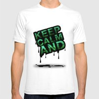 Keep Calm And.... Mens Fitted Tee White SMALL