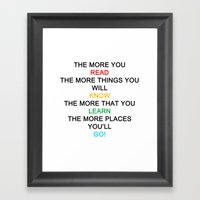 Quotes Framed Art Print
