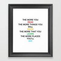 quotes Framed Art Print