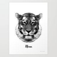 TIGER SAYS MEOW Art Print