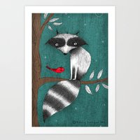 CUSHY TAIL Art Print