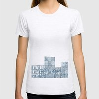 Street art Womens Fitted Tee Ash Grey SMALL