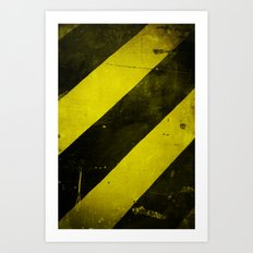 Warning II! Art Print