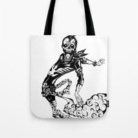 Fart Skull Flying Tote Bag