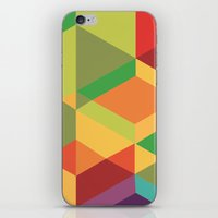 Geometric colour iPhone & iPod Skin