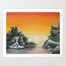 Topographic Sunrise Art Print