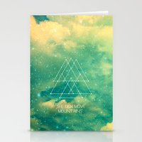 She Can Move Mountains Stationery Cards