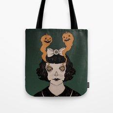 Jack O Lantern Eyes Tote Bag