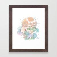 First Kiss Framed Art Print