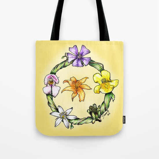 Garland of flowers Tote Bag