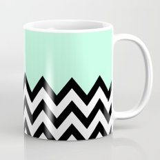 MINT GREEN COLORBLOCK CHEVRON Mug