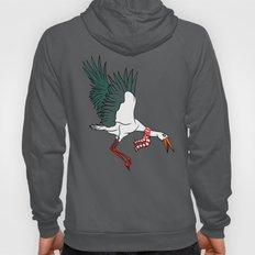 Crane Wearing A Scarf Hoody