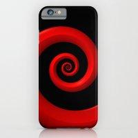 Red Spiral on Black Background iPhone 6 Slim Case